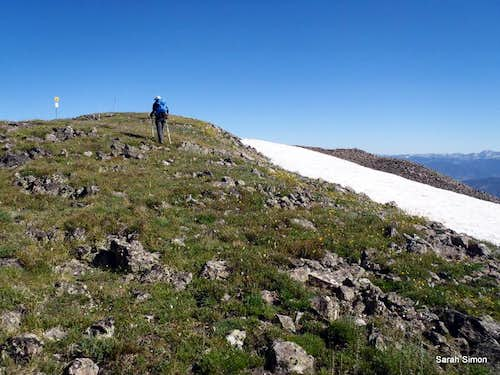 Nearing summit of Peak 7