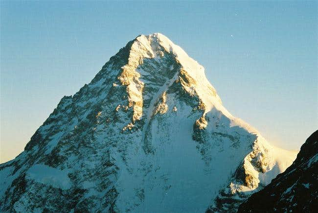 The top 1/3rd of K2's massif,...