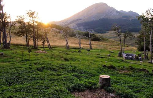 sunset over sveto brdo