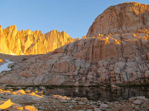 Alpenglow on Mt. Whitney Trail