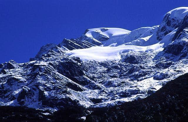 Banji Peak and glacier from...