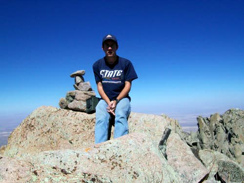 On the summit of organ needle