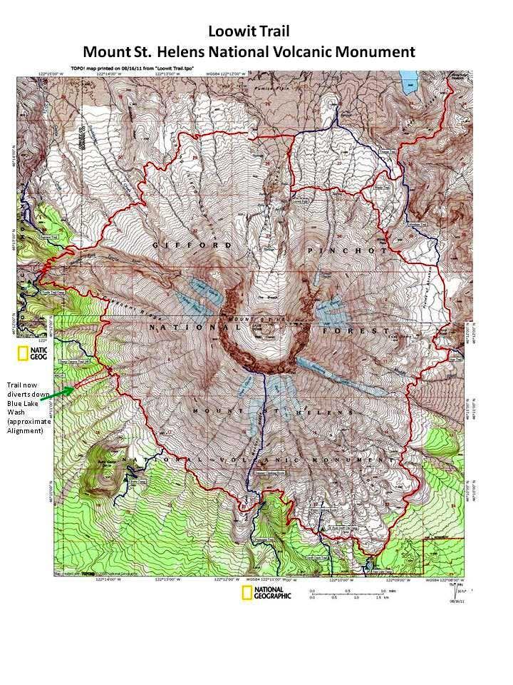 Loowit Trail Map : Photos, Diagrams & Topos : SummitPost