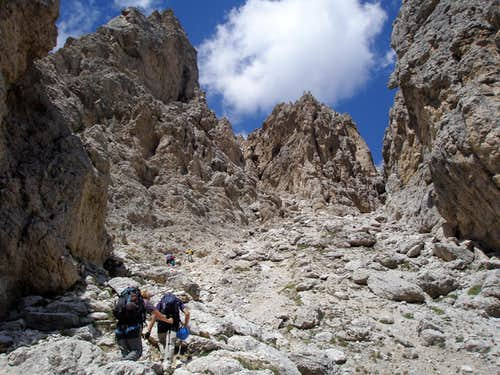 Towards the via ferrata