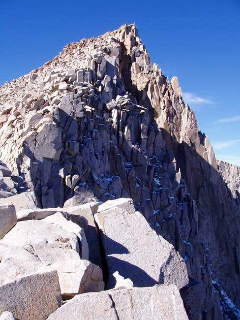 The NE Ridge of Mt Goode,...