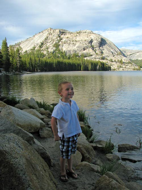 Matthew at Tenaya Lake