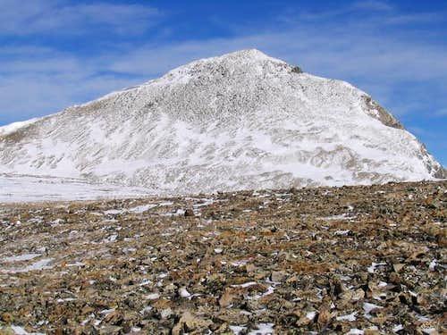 Approaching the summit block...