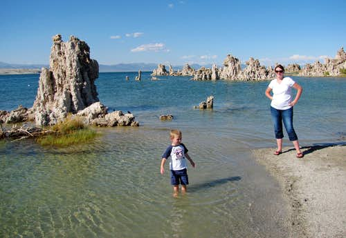 Splashing around at Mono Lake