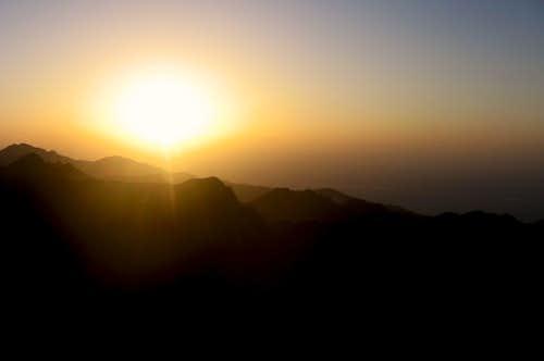 Beautiful sunset from Vistea peak