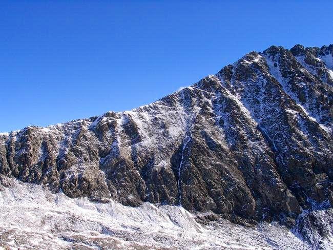 The West Ridge as it climbs...