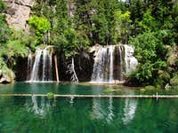 The Falls at Hanging Lake