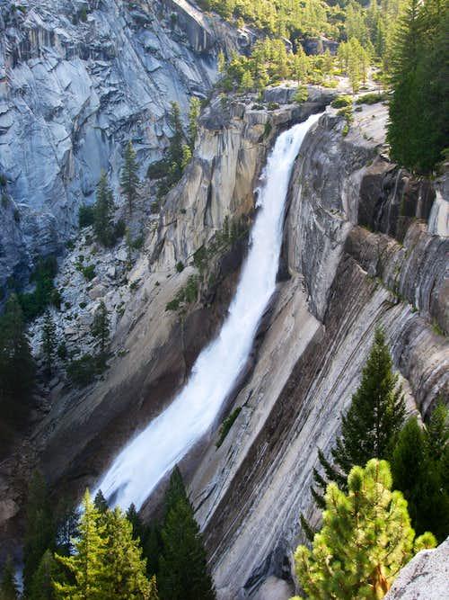 Nevada Falls from Muir Trail