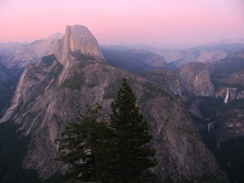 Glacier Point at dusk