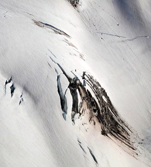 Crevasses on the North Mowich Glacier