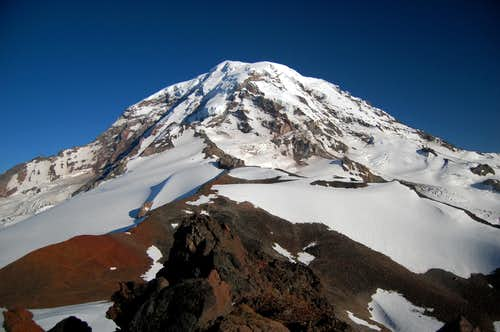 Mt Rainier\'s N Face from Observation Rock