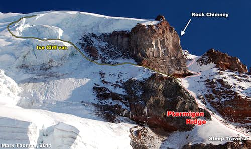 Upper Ptarmigan Ridge - Route Topo