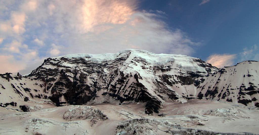 The north side of Mt Rainier