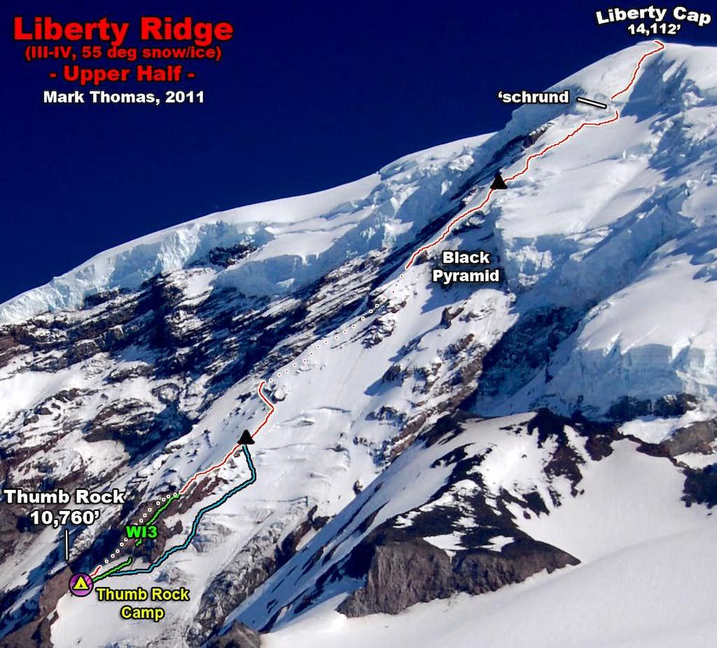Upper Liberty Ridge - Route Topo