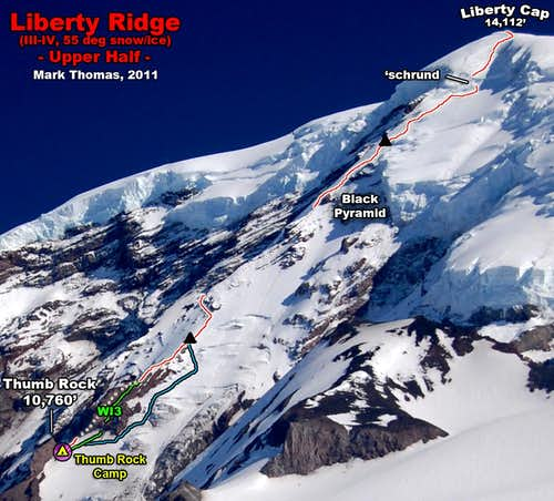 Upper Liberty Ridge - Route Topo