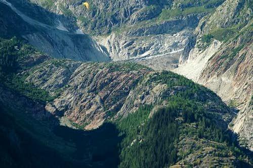 Fiesch valley. Glacier made....
