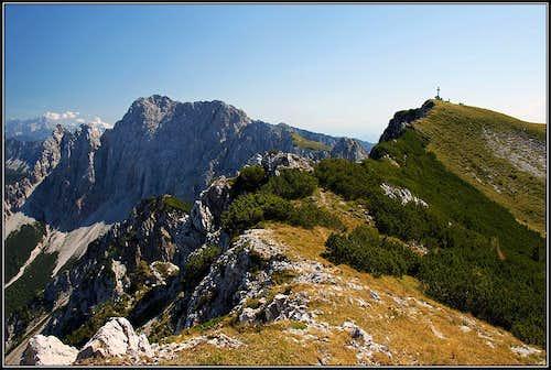 The summit of Kosiak/Kozjak from its NW fore-summit