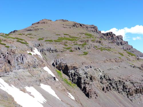 south side of Pacific Crest Peak