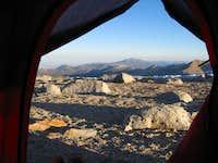 View Out Tent Door