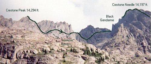 Crestone Peak-Needle traverse...