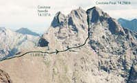 Red Couloir route (class 3)...
