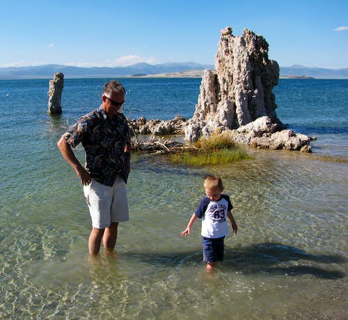 My Dad & Matthew at Mono Lake