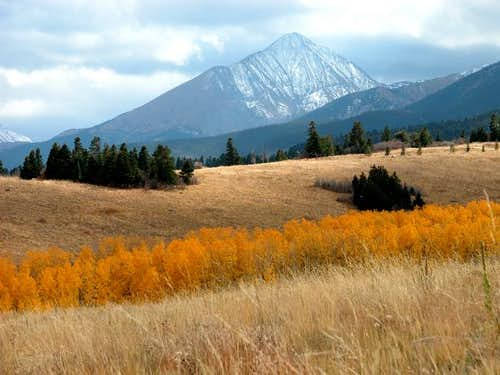 Horn Peak in October Color