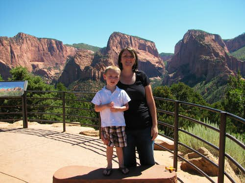 Liz & Matthew at Kolob Canyon