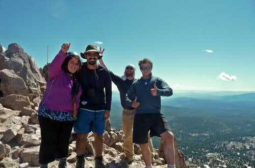 Excited to Reach the Summit of Mount Lassen