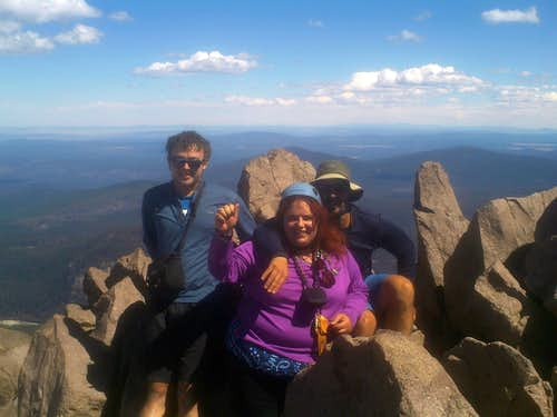 EastKing, Josh Lewis and I on Lassen
