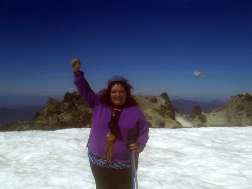 On the snow on Lassen
