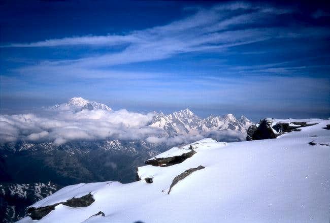 Mont Blanc far away
