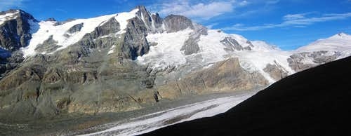 The main ridge of the Glockner group, from Kellersberg to Johannisberg