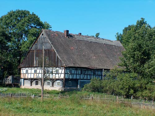 Old typical house of the Kaczawskie region