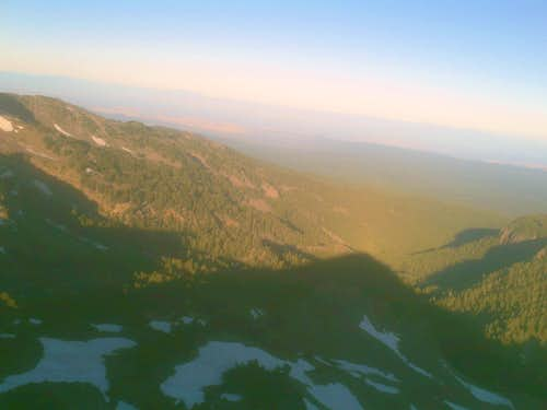 The shadow of Eagle Peak