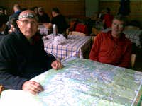 Michel and Daniel studying the map at Zelene Pleso