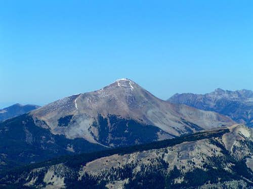 Lone Peak from the top of the...