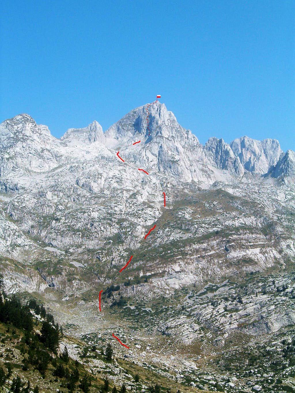Possible first ascent of Maja Shkurt (2499 m)