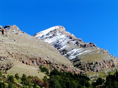 View of the gully that leads...
