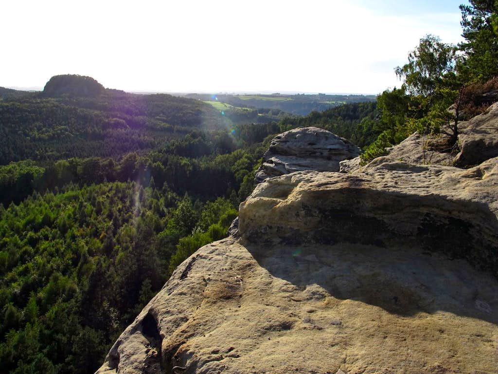 View to Grosser Bärenstein from the Rauenstein