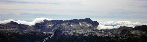 Visoki Kanin from the top of  Montaz