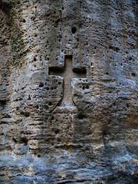 A cross in sandstone