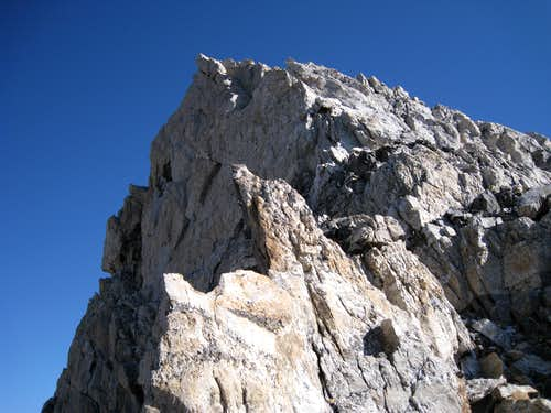 The upper ridge above the Friction Pitch