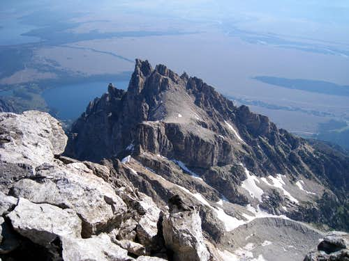 Teewinot Mountain from summit of Grand Teton