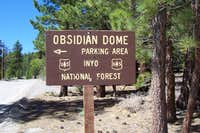 Obsidian Dome Parking area sign