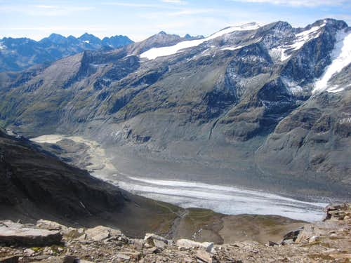 The tongue of the Pasterze glacier